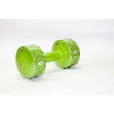 Гантель виниловая 2 кг ( зелёный перламутр)