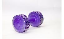 Гантель виниловая 1,5 кг (фиолетовый перламутр)